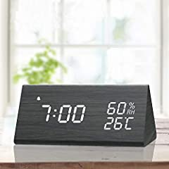 【Dual plus Alarm Setting】- Updated in 2019 from dual alarms to three alarms. You can either set two or three alarms to better WAKE you up. One for you and the other for your families. Forever Say no to delay. Also, it allows you to set weekday mode, ...