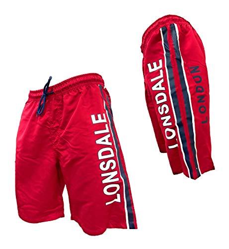 Lonsdale Boxer Meer Badehose für Herren Swim Shorts Small
