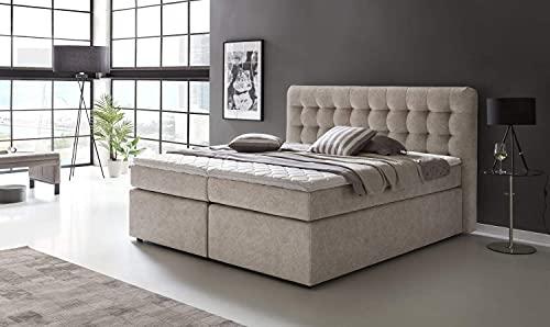 Furniture for Friends Möbelfreude® Premium Boxspringbett Perris | 160x200 cm Moonrock H3 | mit hochwertigen Tonnen-Taschenfederkern Matratzen & Viskose-Topper | Made IN Germany