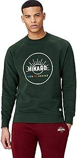 Amazon Brand - Hikaro Men's Chest Print Crew Neck Sweatshirt