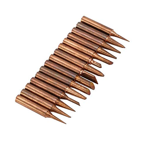 Jarchii Iron Solder Tip, 15pcs/Set Copper 900M-T Iron Solder Tip for 936,937,938,969,8586 Soldering Station Best Choice