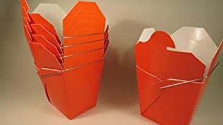 Orange Chinese Take-out (Favor) Boxes - 100 Count