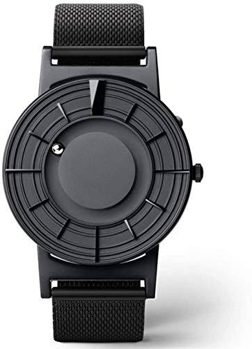 Reloj de pulsera digital para hombre, de moda, informal, de cuarzo, simple y redondo, de lona, correa de cuero