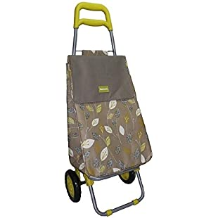 ***FREE DELIVERY**LIMITED OFFER***Highlands Lemongrass Thermal Insulated Large Wheeled Shopping Trolley Lightweight Bag Folding Cart Strong Travel Beach Holiday Grocery Camping Caravan Bag. ***PERFECT FOR ALL OCCASIONS, PRESENTS, GIFTS***:Labuttanret