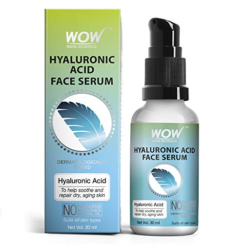 WOW Skin Science Hyaluronic Acid Moisturising Face Serum - Soothing & Repairing Dry and Aging Skin - For All Skin Types - No Parabens, Silicones & Mineral Oil- 30ml