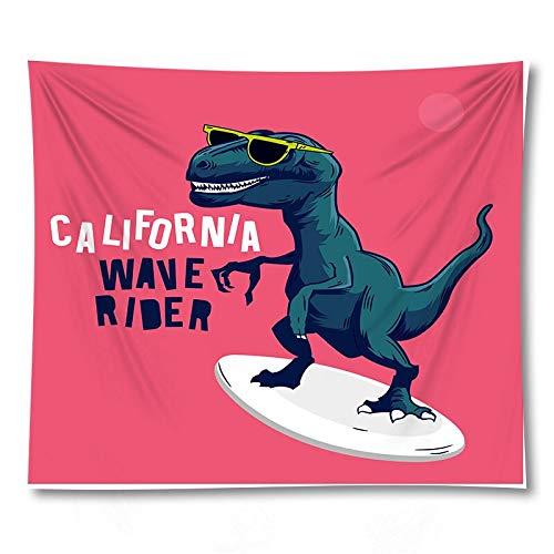 PPOU Tapiz de Animales de Dibujos Animados, Manta de Toalla de Dinosaurio de Playa montada en la Pared, decoración de la Pared del hogar, Tapiz, Tela de Fondo A13 73x95cm
