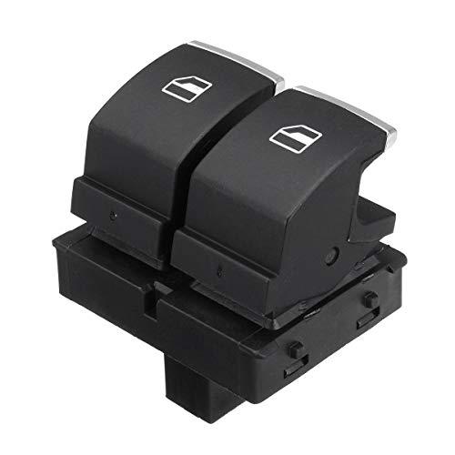 WZhen Interruptor De Control Del Elevavimiento Eléctrico Del Lado Del Conductor Para Vw Golf Eos Mk5 Mk6 2 Puertas