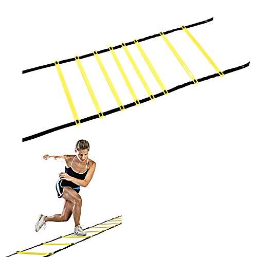Velocidad Escalera de Entrenamiento Coordinación Agilidad, Speed Training Ladder, Equipo de Entrenamiento de Velocidad de Fitness, para Fútbol, Baloncesto, Béisbol, Lacrosse