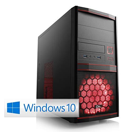 CSL Sprint D10086X (Ryzen 5) Multimedia PC inkl. Windows 10 - AMD Ryzen 5 3400G 4X 3700 MHz, 8 GB RAM, 240 GB M.2 SSD, MSI Mainboard, Radeon Vega 11 Grafik, GigLAN, USB 3.1, HD Audio, Windows 10