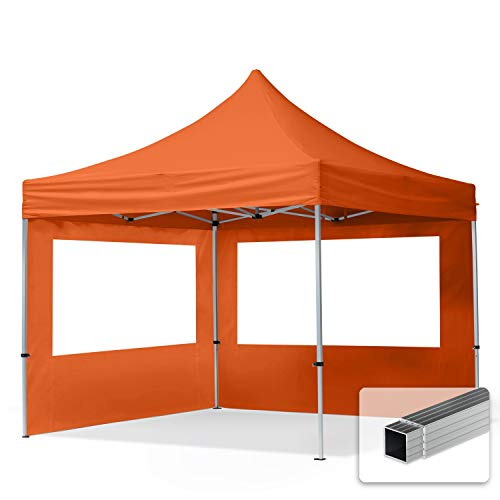 TOOLPORT PopUp Gazebo Aluminium 3x3m - 2 sidewalls peach Folding tent Party tent Market Shelter 100%...