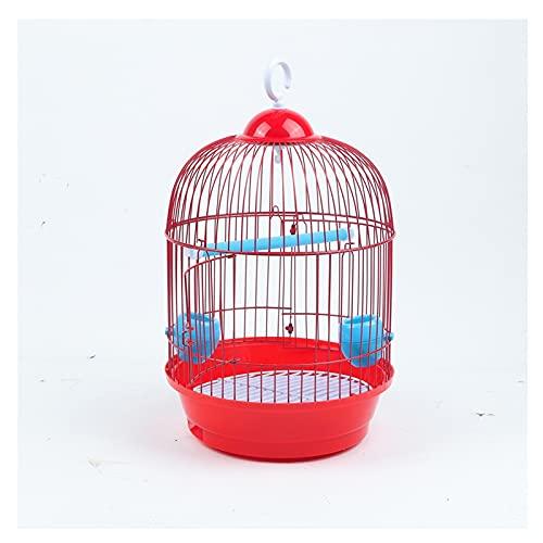 Kit gabbia per uccelli da volo Gabbia per uccelli Piccolo pappagallo in ferro battuto pappagallo gabbia per uccelli thrush tigre pelle uccello gabbia bianco occhio liak arevatura gabbia piccola rotond