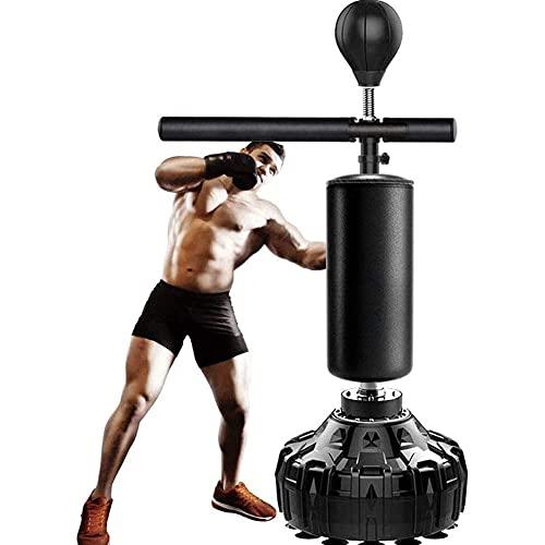Barra de boxeo 3 en 1 Reflex 360° Barra giratoria Pedestal Reflex Bag Freestand Altura Ajustable Punching Ball Stand, Boxeo Reflex Bar, Spinning Bar Arte Marcial