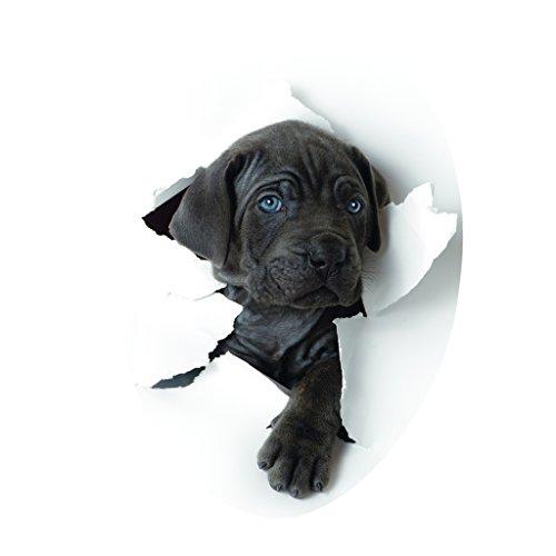 Sharplace DIY Aufkleber WC Sitz Folienaufkleber Toilettensitz Bad WC Dekor Sticker - Süßer Hund