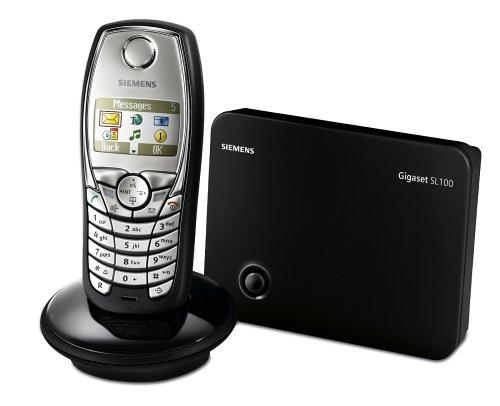 Siemens Gigaset SL100 colour, Schnurloses DECT-Telefon, titan-schwarz