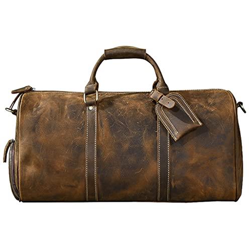 Borsone da viaggio portatile Borsa da viaggio in pelle da viaggio per viaggiare a mano Carry on borse con scarpe compartimenti Sacchetto del Seekender per Business Short Trip Borsa sportiva Borsa da v