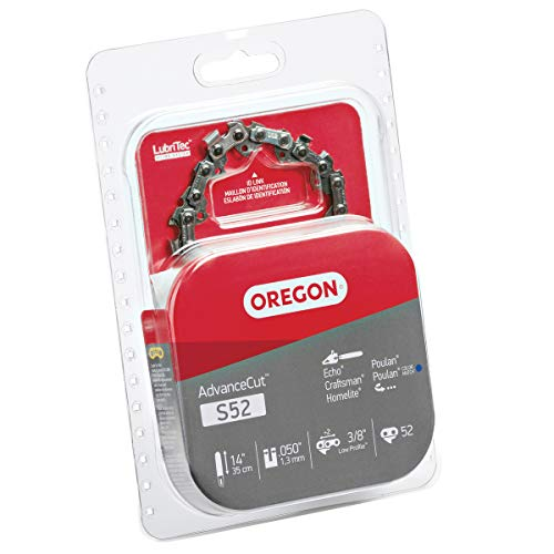 Oregon S52 AdvanceCut Chainsaw Chain for 14-Inch Bars, Fits Craftsman, Echo, Homelite, Poulan, 52 Drive Links