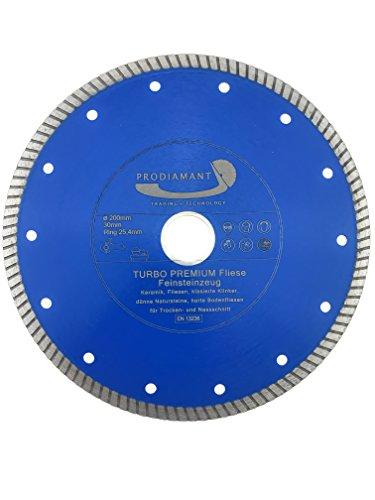 PRODIAMANT Profi Diamant-Trennscheibe Fliese/Feinsteinzeug extra dünn 200 mm x 30/25,4 mm Diamanttrennscheibe PDX83.975 200mm Fliesenscheibe