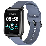 ASWEE Smart Watch, Fitness Tracker with Heart Rate Blood Pressure Monitor, Waterproof Watch with Sleep Monitor, Calorie Step Counter Watch for Kids Women Men Compatible Android iPhone Smartphone