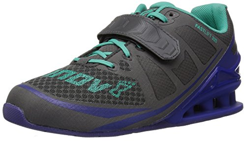 Inov-8 Women's Fastlift 325 Cross-Trainer Shoe, Dark Grey/Purple/Teal, 9 E US