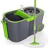 FEOPW 360 Spinning Gradi Mop Mop Benna Rotary Libero Lavaggio a Mano Umido e Secco, Automatico d'Acqua Doppio Mop Mop Secchio, Asta telescopica, Mop Secchio Dimensione: 48x28x27CM