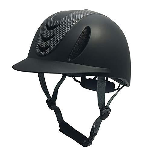 Sombreros ecuestres, gorro de montar a caballo, cascos deportivos, cascos de seguridad resistentes y protectores con ventilación de aire y barrera de velocidad de verano(56-60 CM)