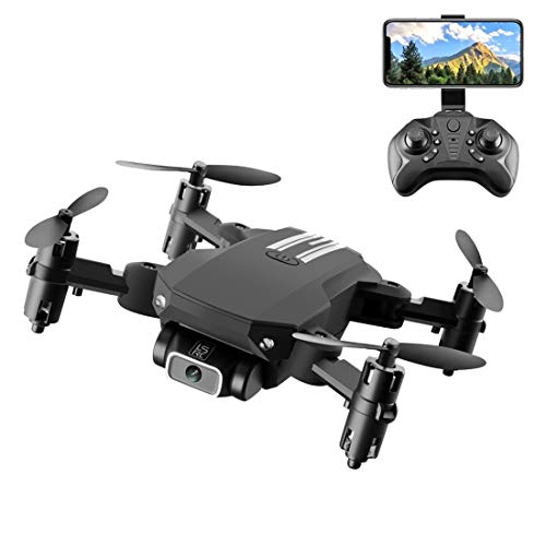 GANK TSX ACD LS-MIN 480P RC Foldable Quadcopter Drone Control Remoto Aviones, Packaging Box (Negro) (Color : Black)