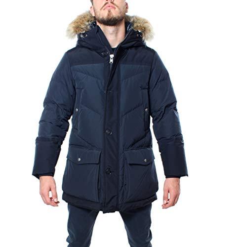 Woolrich Jacke Logo Arctic Parka mit Kapuze, Passform, Over und abnehmbarem Fell Blau für Herren Casual, Blau Small