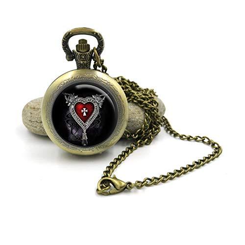Sunshine - Collar de Reloj de Bolsillo de Horror gótico, joyería gótica, joyería de Horror gótica, Collar de Reloj de Bolsillo gótico
