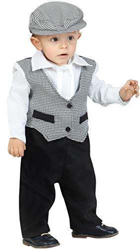 Kimokawaii Disfraz de Madrileño Chulapo Niño (1-2 años)