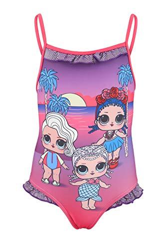 Characters Cartoons LOL Surprise - Costume Intero 1 Pezzo Mare Piscina - Bambina - Prodotto Originale con Licenza Ufficiale [1822 Fucsia - 9 Anni]