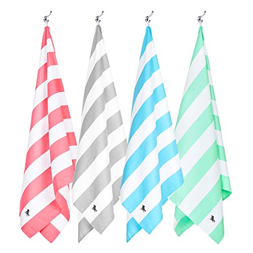 Dock & Bay Quick Dry Towel Set - Set of 4, Large (160x80cm, 63x31) - Beach...