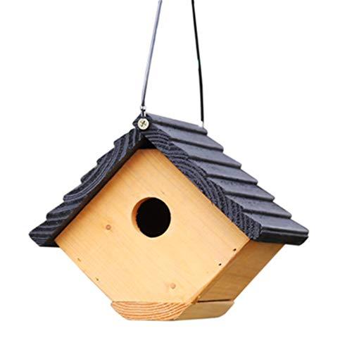 Huangjiahao Maison d'oiseau Chalets Oiseau Maison for Petit Oiseau Créative Suspension Extérieure Décoration Cabane Birdhouse Rétro Clocher en Bois Birdhouse pour Le Moineau Perroquet Colibri