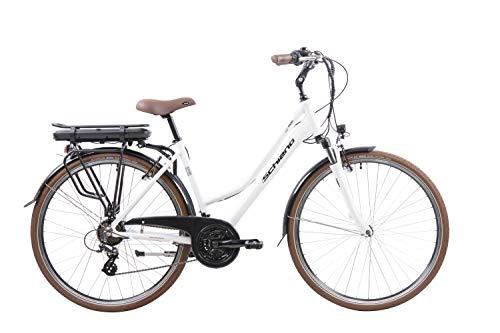 F.lli Schiano E- Ride, Bicicletta elettrica Women's, Bianca, 28''