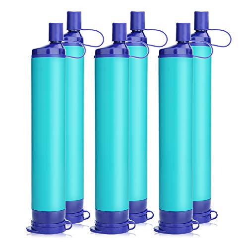 WakiWaki Portable Personal Water Filter, 3 Stage 1500L Backpacking Water Filter BPA Free Camping...