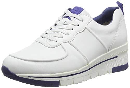 Tamaris Damen 1-1-23745-24 Sneaker, Weiß (White/ROYAL 126), 37 EU
