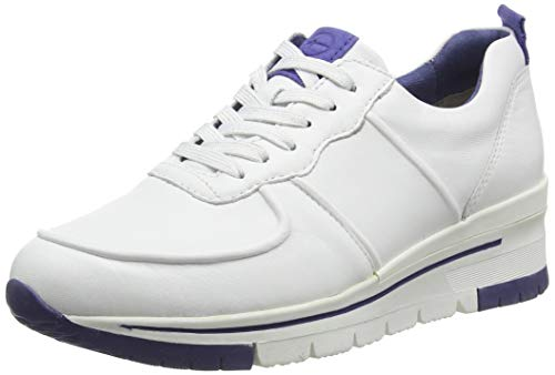 Tamaris Damen 1-1-23745-24 Sneaker, Weiß (White/ROYAL 126), 37 EU