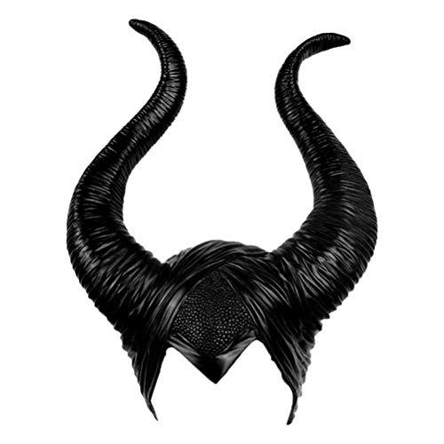 Maleficent Kostüm Hörner, Maleficent Horns Maleficent Evil Queen Kopfbedeckung Maleficent Weihnachten, Erwachsene Halloween Prop Party Cosplay Kopfbedeckung Prop Kostüm Party, Kostüm Accessoire