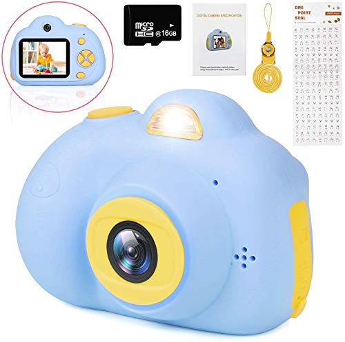 LeaderPro Kids Camera,Birthday Gift for Kids Mini Rechargeable Children Shockproof Digital Selfie Camera Child Camcorder for 3-9 Year Old Kids Gifts Waterproof