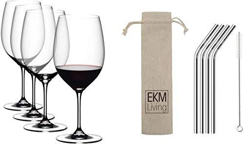 Riedel Vinum Cabernet Sauvignon/Merlot (Bordeaux) 4-teiliges Rotweinglas Set Kristallglas 6416/0 x2