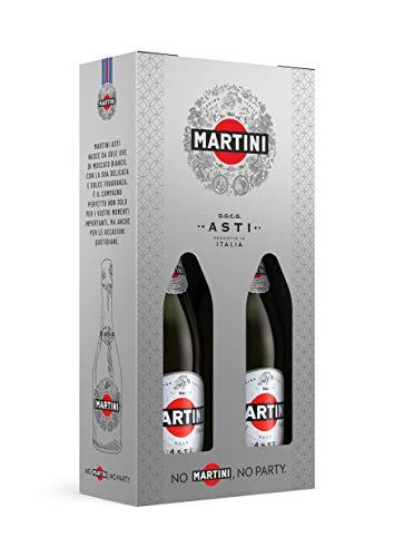 Martini Asti D.O.C.G, Bipack, Contiene 2 Bottiglie Da 75 Cl, Confezione Regalo - 150 cl