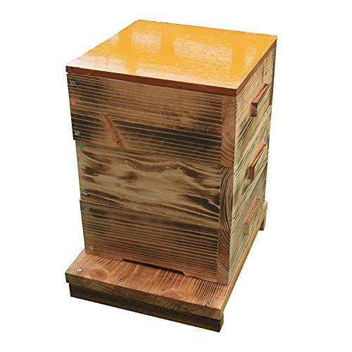 日本蜜蜂 ミツバチ 巣箱 日本みつばち 重箱式巣箱 3段