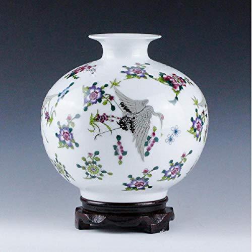 Porzellan Moderne Leuchtende Porzellanvase Leuchtflasche Hauptlieferungsdekoration Dekoration Höhe 17 * 16 cm