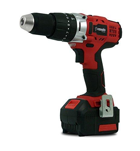 Casals C01256000 Taladro atornillador percutor, 54 W, 18 V
