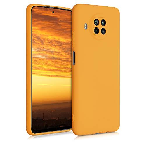 kwmobile Cover Compatibile con Xiaomi Mi 10T Lite - Custodia in Silicone TPU - Backcover Protezione Posteriore- Giallo Zafferano