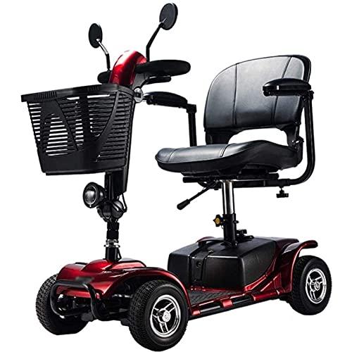 CLOUDS Smart Eléctrico Scooter, 4 Ruedas Vespa Eléctrica Plegable para Adultos, Mayores Scooter, La Batería De Litio 12AH, para Los Ancianos Viajes/Compras
