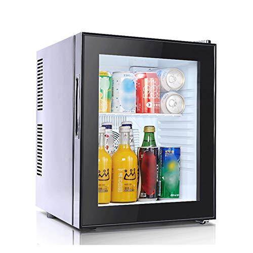 LJJOO Refrigerador y refrigerador con Puerta de Vidrio para Cerveza, Vino, refresco y Bebida, Nevera de bajo Ruido hogar/Bar/Oficina Negra Frigoríficos Mini