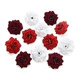 NWSX Fleur Artificiel,Fleurs artificielles, Fausse Fleur,Fleurs artificielles Deco,Rose Artificielle,Deco Mariage, Fleur artificielles Deco Mariage,capitules, 30PCS 4.5cm (Multi)