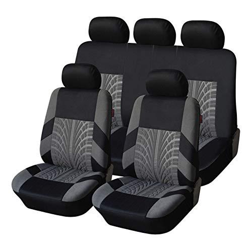 Lwzzdz Las cubiertas de asiento de automóvil bordadas son universalmente adecuadas for la mayoría de las cubiertas de automóviles con detalles de la pista de neumáticos, modelando cojines de asiento d