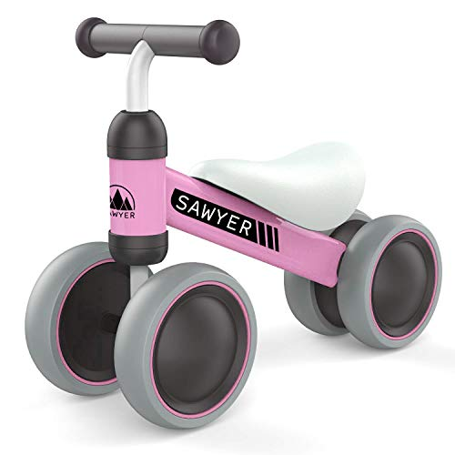 Sawyer - Correpasillos / Bicicleta Sin Pedales - Regalo para Niños 10 a 24 Meses / Juguetes Bebe 1 Año (Rosa)