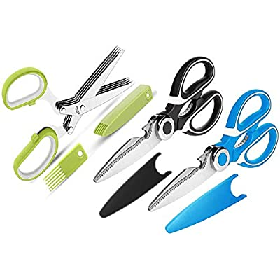Kitchen Shears and Herb Scissors Set, 3-Pack Pr...